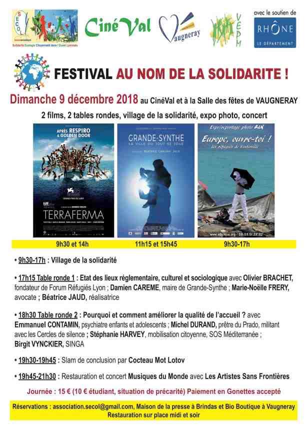 Les deux films seront projetés dans la salle de cinéma du Cinéval avec deux  séances pour chaque film. Le village de la solidarité avec l expo photo et  la ... ebbc39f0501e